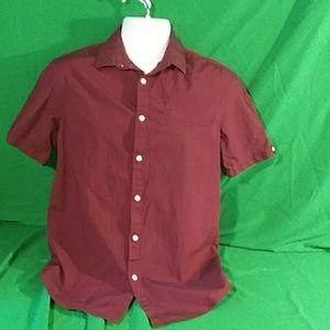 Men's murano maroon short sleeve button down M